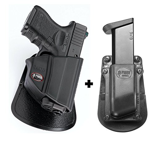 Fobus 26DB Paddle Conceal Concealed Carry Holster Glock 26, 27, 33+ 3901-9 Single Mag Pouch ()