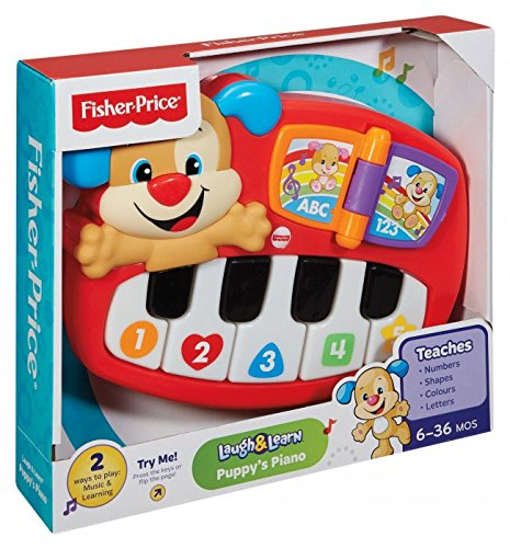 Fisher Price Children's Toy - Laugh N Learn Puppy's Piano - 6months+ - Dld19