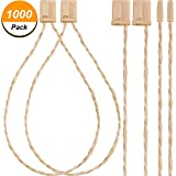 Jovitec 1000 Pack 7 Inch Hang Tag Fasteners Hemp Twine Snap Locks Pin Security Loop