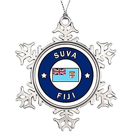 Cheyan Tree Decorating Ideas Rewa Province SUVA Fiji Merry Christmas from Heaven Snowflake Ornament