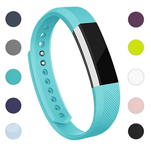iGK Replacement Bands Compatible for Fitbit Alta and Fitbit Alta HR, Newest Adjustable Sport Strap Smartwatch Fitness Wristbands with Metal Clasp Teal Small