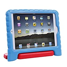 HDE iPad Mini 2 3 Case for Kids - Rugged Heavy Duty Drop Proof Children Toy Protective Shockproof Cover Handle Stand for Apple iPad Mini 1 2 3 Retina (Blue & Red)