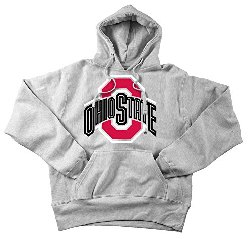 Elite Fan Shop Ohio State Buckeyes Mens Hoodie Sweatshirt Icon Gray - 2XL - Oxford Gray