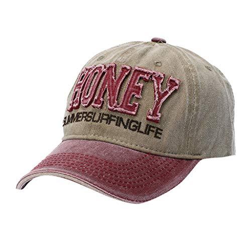 (TANGSen Men Women Fashion Adjustable Baseball Caps Unisex Cotton Cap Star Washed Distressed Rhinestone)