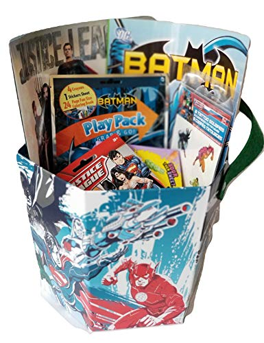 Justice League Featuring Batman Activity Paperboard Gift Bucket Set -