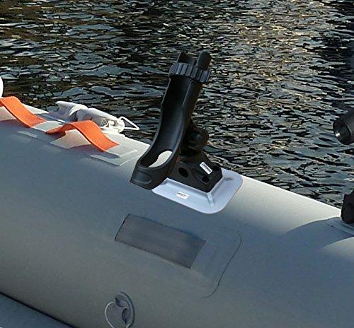 Brocraft Glue On Boat Rod Holder for Ribs Kayak & Inflatable Boat/Inflatable Boat Rib Mount Rod Hodler