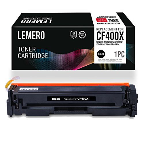LEMERO Replacement for HP CF400A 201A CF400X 201X M277dw M252dw Black Toner Cartridge - for HP Color LaserJet Pro MFP M277dw M252dw M277c6