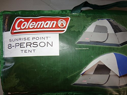 & New Coleman Sunrise Point 8 Person Tent 8 Person Camping Green