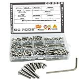 CO RODE M5 Stainless Steel Screws Button Head Hex Socket Head Cap Bolts Nuts Assortment Kit, 210-Pack