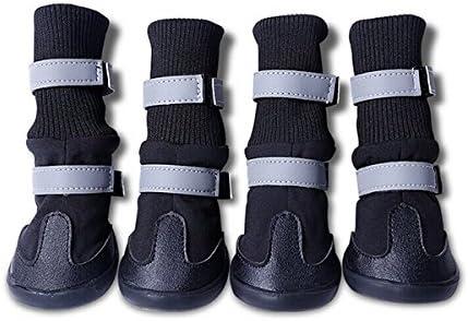 UEETEK 4pcs impermeable perro mascota botas para medianas y ...