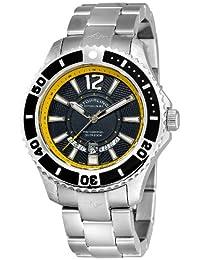 Stuhrling Original Men's 161B4.331165 Watersport Regatta Diver Swiss Quartz Date Stainless Steel Bracelet Watch