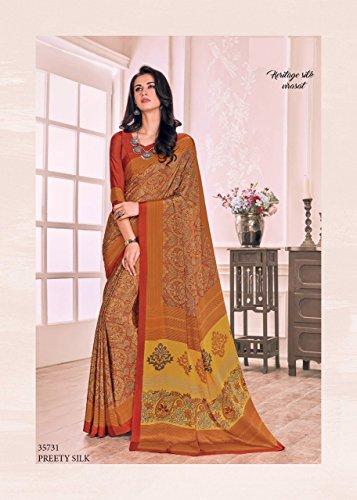 saree Designer tradizionale gonna manuale lavoro saree ricamo 100 sari crape culutral collezione indiano bollywood lavoro 841 jari originale donne abito ZBxn8z1