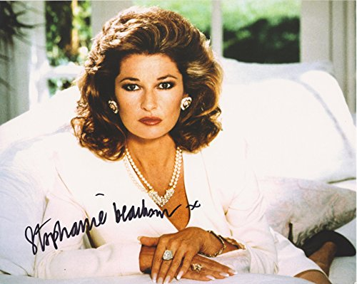 Stephanie Beacham Dynasty Original Autographed 8X10 Photo with COA from Hollywood Show