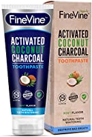 Charcoal Teeth Whitening Toothpaste - Made in USA - WHITENS TEETH NATURALLY and REMOVES BAD BREATH - Best Natural Vegan Tooth paste - Mint flavor