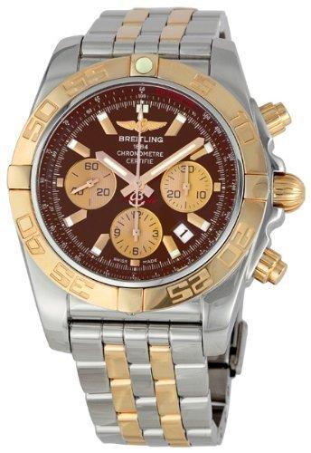 Breitling Chronomat 44 Black Stainless Steel Mens Watch CB011012-Q576TT