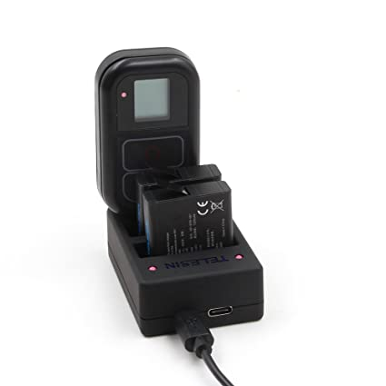 TELESIN Reemplazo batería 2 Pack con cargador multifuncional para GoPro Hero 6/Hero5 , Hero 4 Cámaras (Multi cargador Hero 6/Hero 5/Hero 4) + 2 ...