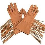 ArcheryMax Men's Western Fringe Leather Gauntlets