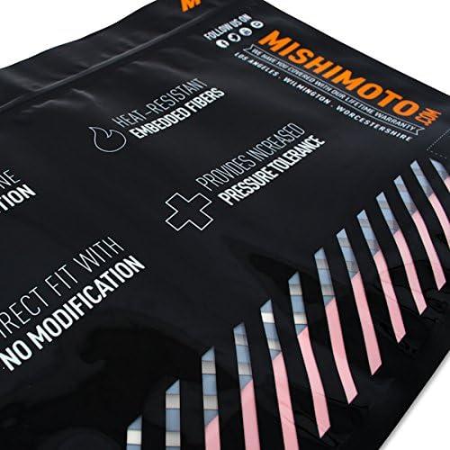 Mishimoto mmhose-rs-16bkフォードフォーカスRSシリコンラジエーターホースキット、ブラック2016+