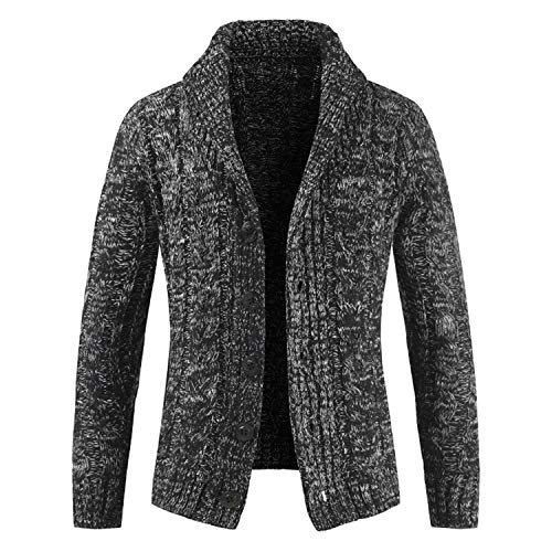 Slim Gray Fit Manteau Hommes Auspiciousi Pocket Zip Manches Jacket Cardigans Pulls Longues agqIS7