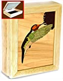 Hummingbird Art -Original Work of Wood Art -Unmatched Quality -Handmade in USA -Unique, No Two Are the Same. Bird Lovers Will Enjoy This Hummingbird Gifts, Trinket Box, Music Box or Jewelry Box.