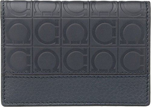 Salvatore Ferragamo  Men's Firenze Gamma Credit Card Case - 66A139 Lavagna One Size