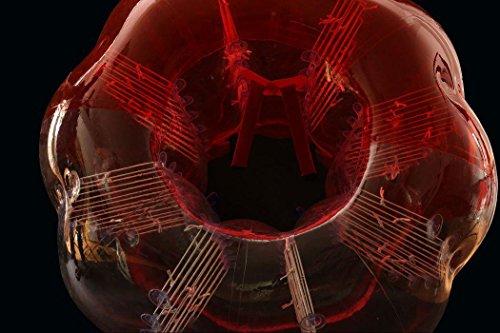 Pelota de parachoques de PVC Pelota de hámster humano Pelota de fútbol Zorb Red