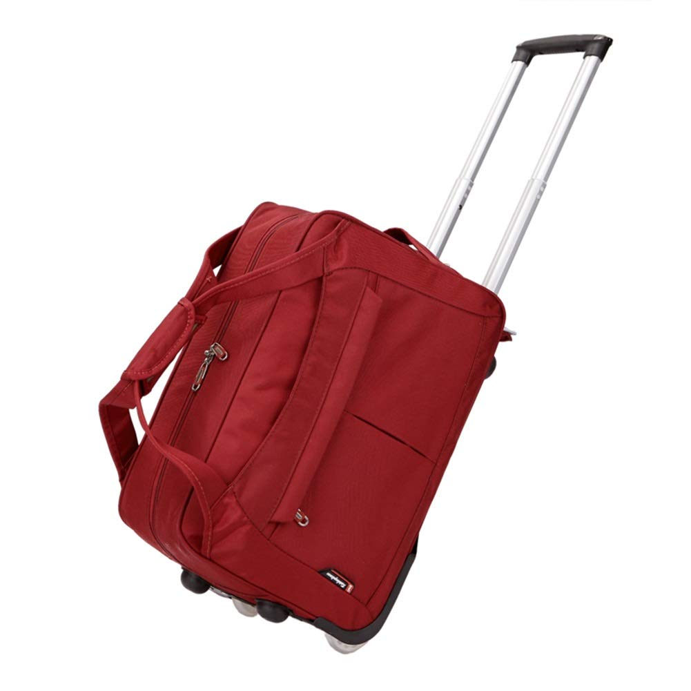 Travel Bags Trolley Case Travel Business Trip Short-Distance Pull Rod Luggage Suitcases Carry On Hand Luggage Durable Hold Tingting Color : Red, Size : 543329