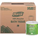 Marcal 4580 100% Recycled Two-Ply Bath Tissue, White, 504 Sheets/Roll, 80 Rolls/Carton