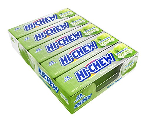Hi-Chew Sensationally Chewy Japanese Fruit Candy, Green Apple 1.76 Ounce (Pack of 10)