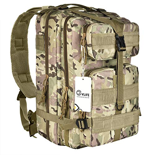 CVLIFE Outdoor Tactical Backpack Military survival Rucksacks Camping Hiking