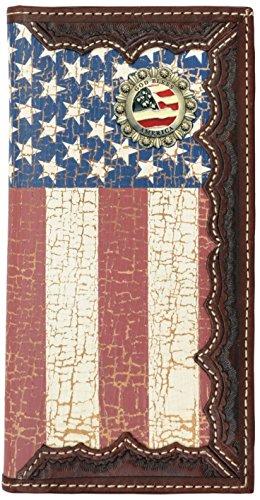States God America with American Flag Long Bless United Distressed Flag Custom Wallet v7pBwv