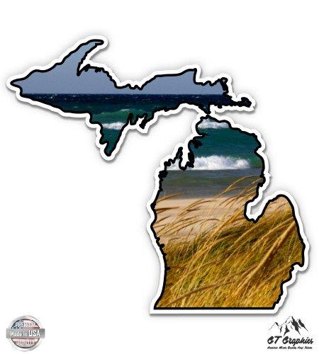 - Michigan Shape Beach Lake Michigan - 3