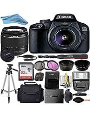 Canon EOS T100/4000D DSLR Camera with 18-55mm f/3.5-5.6 III + Professional Accessory ZeeTech Bundle (Professional Bundle + 32GB)