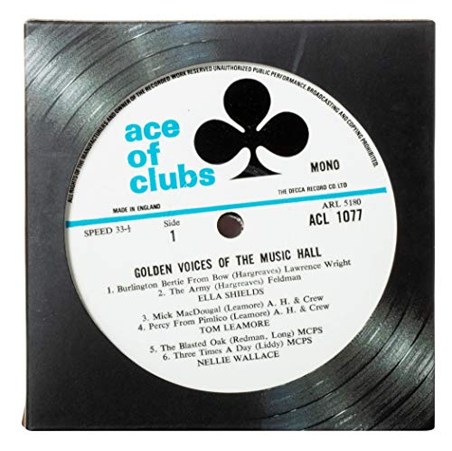 Vintage Record Coasters - Upcycled Vintage Vinyl LP Records - Set of 6 Coasters By - Coasters Record