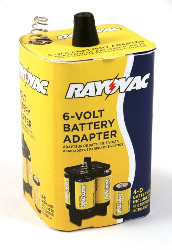 rayovac 6vadpt b 6 volt battery adapter with batteries b00c1uxem8 amazon price tracker. Black Bedroom Furniture Sets. Home Design Ideas