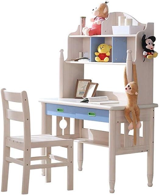 Conjunto de escritorio y silla para estudiantes Madera Mesa Con ...