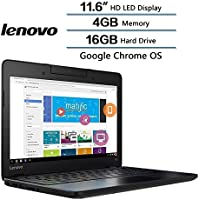 Lenovo Education Notebook Ideapad 11.6 inch Intel Celeron N3060 (up to 2.48 GHz) 4GB RAM 16GB HDD Chrome Operation-the perfect resource for teachers and students (Certified Refurbished)