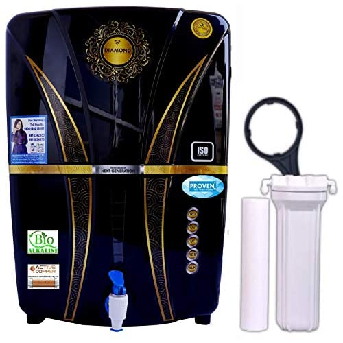 Proven® Alkaline + ORP with Active Copper + RO + UV + TDS Controller/Adjuster RO Water Purifier-12 Liter Storage Home and Office (Made In India)