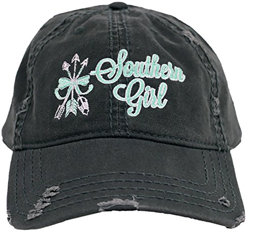 Southern Couture Southern Girl Arrows Bow Charcoal Grey Rugged Style Hat (Christmas Reviews Southern Show)