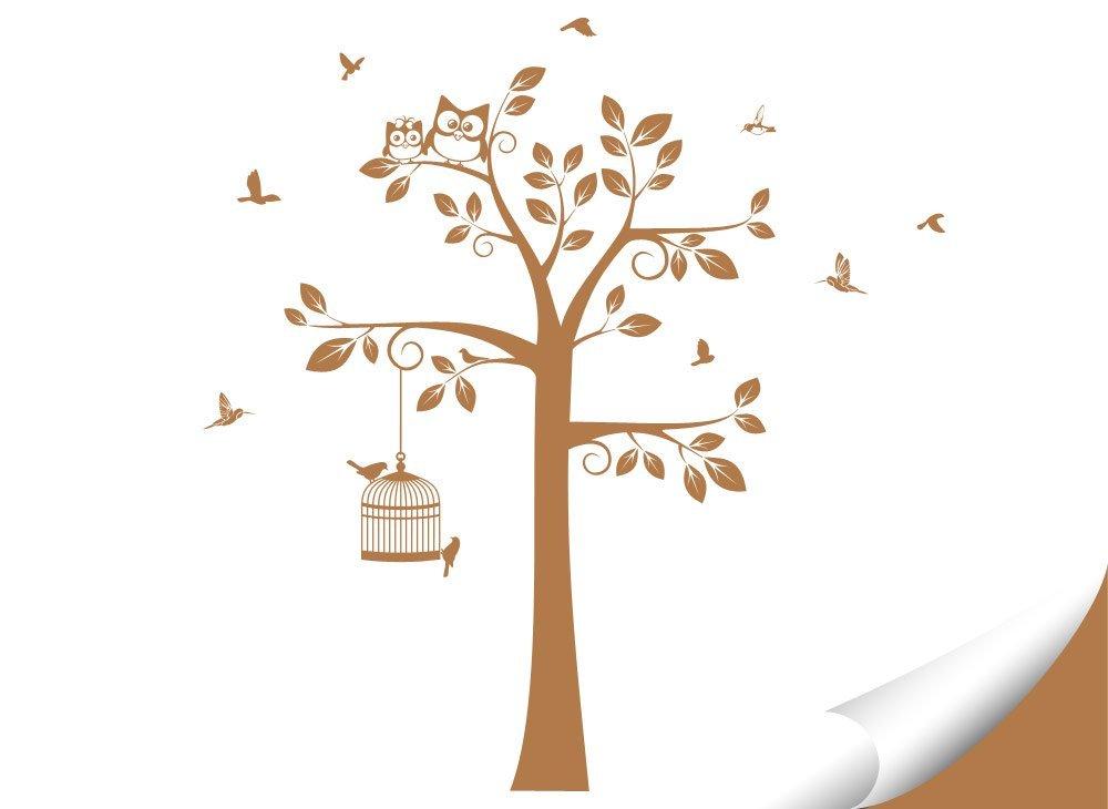 Wandaro Wandtattoo Baum Vögel I I I weiß (BXH) 108 x 160 cm I Kinderzimmer Aufkleber selbstklebend Wandaufkleber Wandsticker Sticker Wandtatoo W3281 B01H7ACRPG Wandtattoos & Wandbilder f3f480
