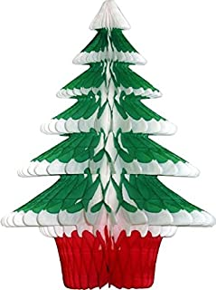 product image for 3-Pack 18 Inch Honeycomb Tissue Paper Frosted Christmas Tree Decoration