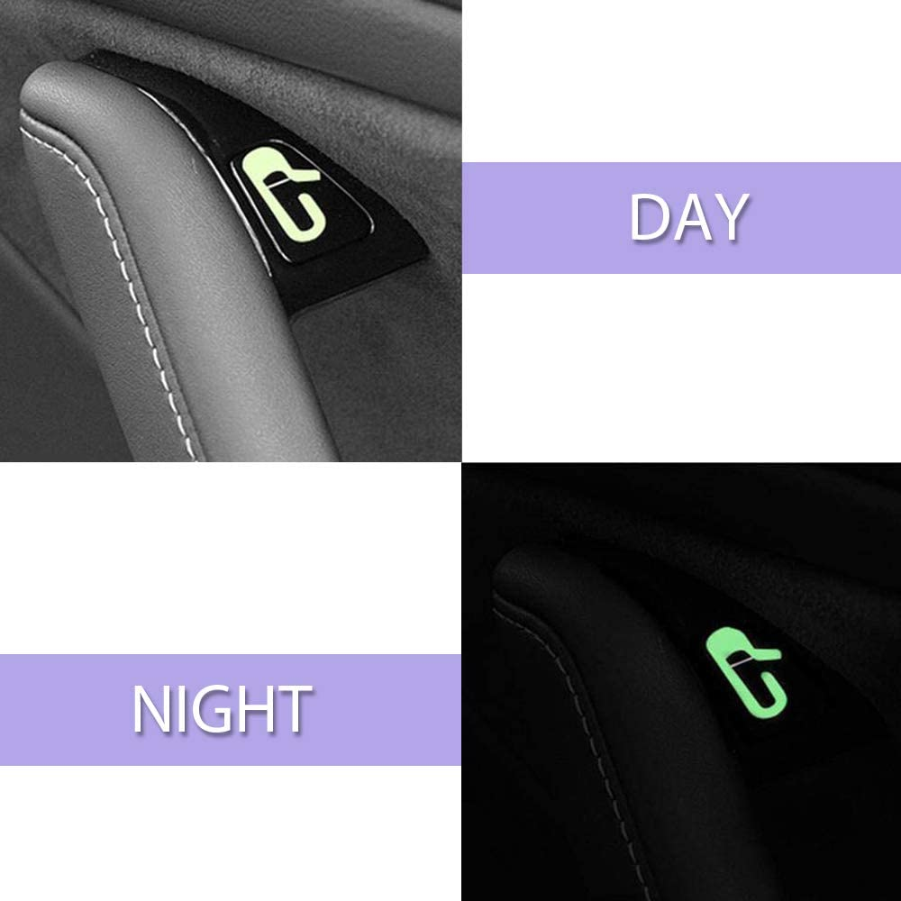 Flourescent//White for Model 3 /& Y 4 Mini and 4 Max CoolKo Car Door Open Exit Sticker Decal Interior Decoration