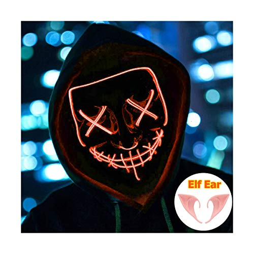 Halloween Mask Light up Mask Cosplay LED Mask