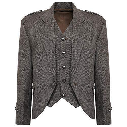 L Tweed R Compatible Crail Avec Robe 48 Écossais Et Mariage Kilt S Veste Highland Long Gilet PFprPq4w