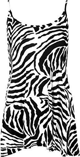 (Forever Women's Scoop-Neck Animal-Print Sleeveless Short Maxi Dress, Zebra Print, 14/16)