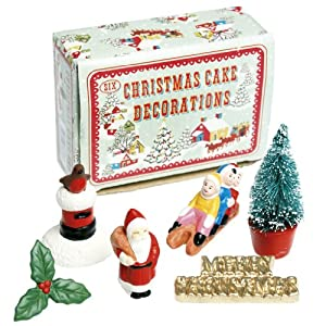 Vintage Cake Decoration Ideas : Vintage Christmas Cake Decorations: Amazon.co.uk: Kitchen ...