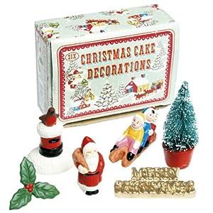 Vintage Christmas Cake Decorations: Amazon.co.uk: Kitchen ...