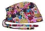 Scrub Hat Women Superheros Comic Fabric Nurse Cap Doctor ER Do-Rag Skull