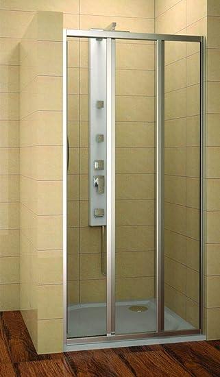 Cabina de ducha 120 cm, puerta corredera 120 x 185 cm (BxH), Puerta De Ducha 120 cm, 2 piezas, vidrio templado de 4 mm: Amazon.es: Bricolaje y herramientas