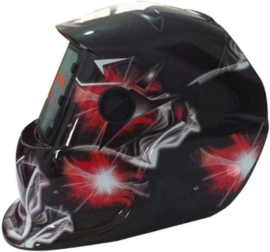 Máscara de soldadura de protección contra la radiación para el casco de soldadura por radiación fotoeléctrica solar DIN9-13, material resistente a altas temperaturas, seguro y no tóxico (color : A)